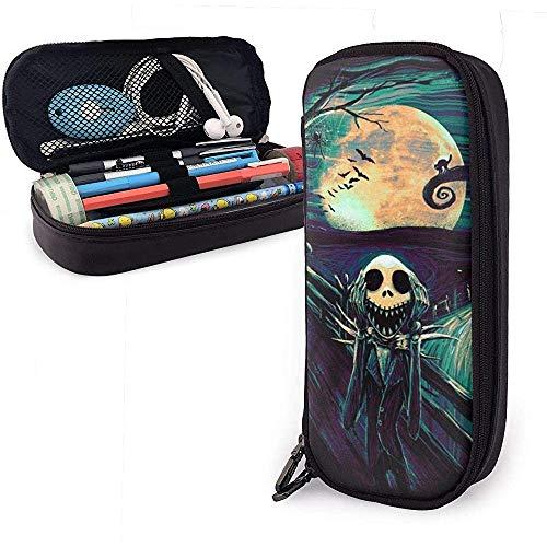 Albtraum Schädel Weihnachten Unisex Student Federmäppchen Stift Box mit Reißverschluss Schreibwaren Tasche große Kapazität Buggy Taschen für Mädchen Jungen