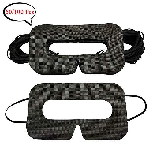 YinQin Universal Einweg-VR-Cover Einweg-Cover für VR, Sanitär VR Cover, GesichtsCover für VR, VR einweg Cover, VR Einweg Cover, VR Augen Cover, Schwarz (100 Stück)