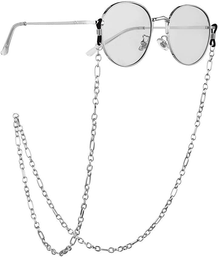 XJJZS Chain Link Buckle Cords Reading Glasses Chain Fashion Women Sunglasses Accessories Lanyard Hold Straps (Color : B, Size : Length-70CM)