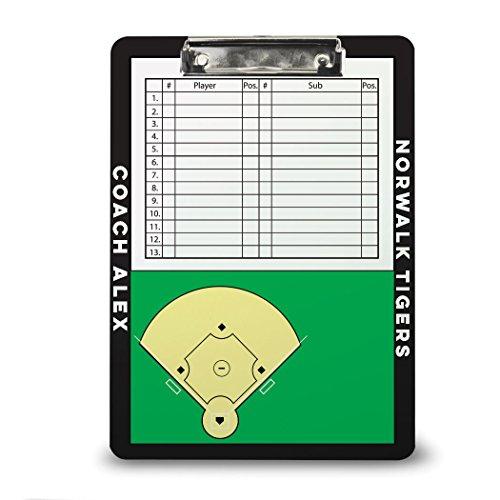 Baseball Coach Board | Dry Erase Coach Clipboard by ChalkTalk Sports | Black