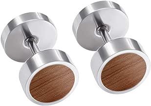 wooden ear studs