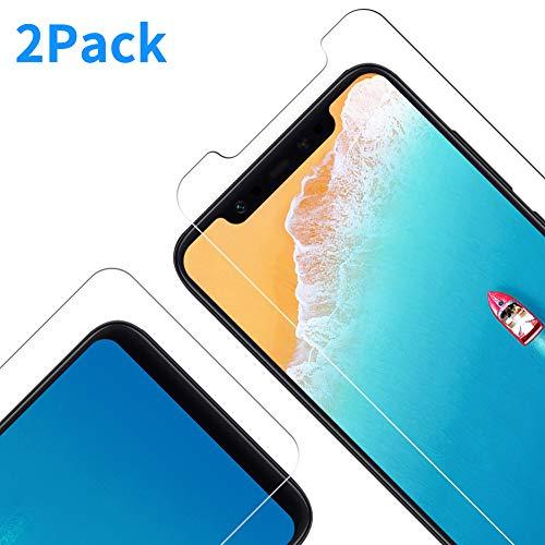 Protector de Pantalla para Xiaomi Mi 8/Mi 8 Pro [Dureza de 9H] [Alta Definicion] [Transparente] [Anti-Arañazos] Cristal Vidrio Templado para Xiaomi Mi 8/Mi 8 Pro, 2 Unidades