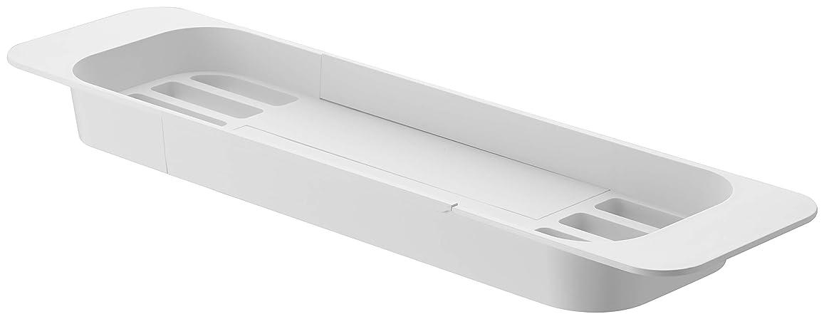 埋める感覚課す山崎実業 浴室用ラック ホワイト 約57.5X15.5X4.5cm 3546
