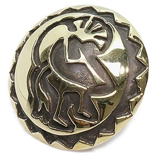 コンチョ ホピデザイン L ココペリ インディアン コンチョ ネイティブ ゴールド 金 バイカー シルバー925コンチョ 財布 ウォレット メンズ カスタムパーツ ネジ式