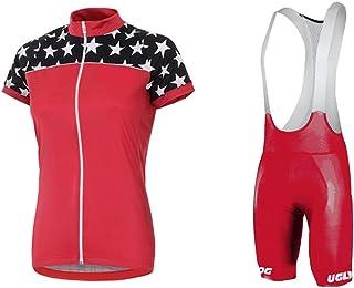 Uglyfrog 2018-2019 Mujer Modo Sport Fuera De Suave del Paño de Manga Corta de Ciclismo Maillots + Bib Pantalones de Bicicletas Bodies Triatlón Ropa DXHB08