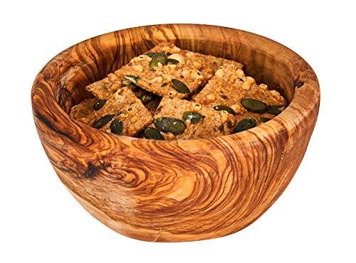 Schüssel ca. 12x4cm Schale Holz Olivenholz Holzschale Salatschüssel Natur Unikat Tischdeko Brotschale Snackschale