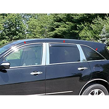 QAA fits 2010-2013 Kia Soul 16 Piece Stainless Window Trim Package Includes Upper Trim and Pillar Posts NO Window Sills WP10831