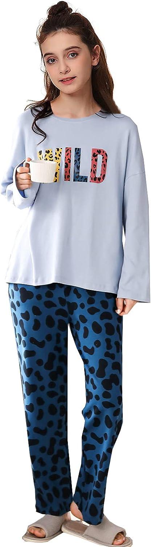 Kalecoola Big Girls' Loose Comfy Cotton Cartoon Sleepwear Pajama Set Sweet Dream Leisure
