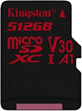 SanFlash Kingston 512GB React MicroSDXC for vivo U20 with SD Adapter (100MBs Works with Kingston)