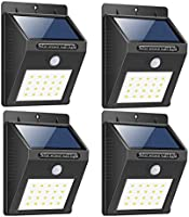 Citra 20 LED Solar Motion Sensor Light,Outdoor Weatherproof for Driveway Garden Path Yard-4 Pack