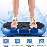 EVOLAND 3D Fitness Pedane Vibranti, Allenarsi Macchine a Piattaforma Vibrante Crazy Fit Massage...