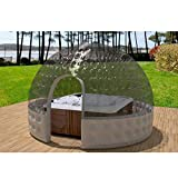 SKLLA Aufblasbarer Whirlpool Doppel-aufblasbares Zelt Transparent Bubble House Kugel (3-5 Meter),4M