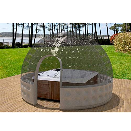 SKLLA Aufblasbarer Whirlpool Doppel-aufblasbares Zelt Transparent Bubble House Kugel (3-5 Meter),3M