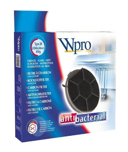 Wpro CHF289 Filtre de Hotte à Charbon Type 28 Diamètre: 240 mm