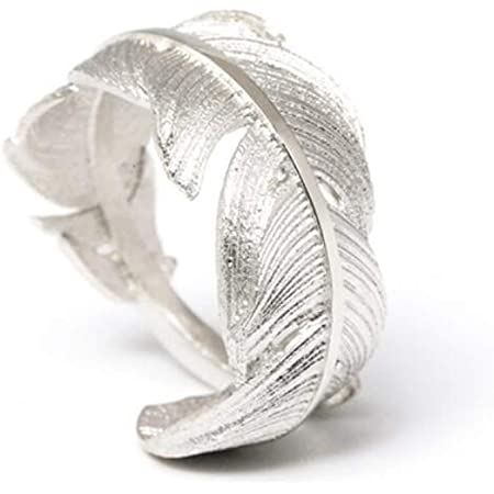 WRISTCHIE Bird Feather Angel Feather Leaf Open Adjustable Ring Band