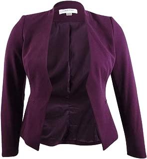 Womens Plus Asymmetrical Business Blazer