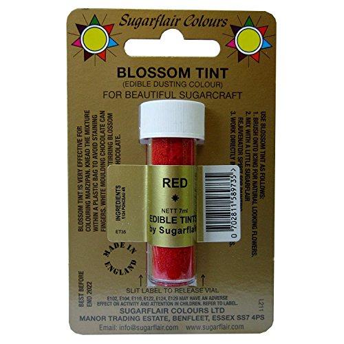 Sugarflair Blossom Tints Essbare Puderfarben Lebensmittelfarbe Fondant Puder Red Rot