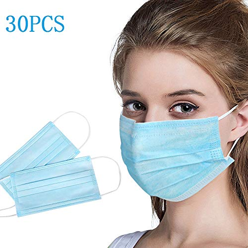 300PC Medical Face Masks with Breathing – 100% Cotton, Washable, Reusable Cloth Medical Masks – Protection from Dust, Medical Sanitary Surgical Mask Pollen, Pet Dander, Other Airborne Irritants