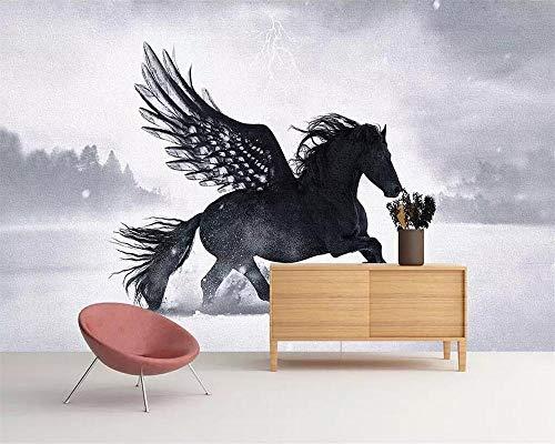 Pegasus unicornio mural papel tapiz TV fondo 3d sala de estar dormitorio fondo 3d papel tapiz 400×280cm
