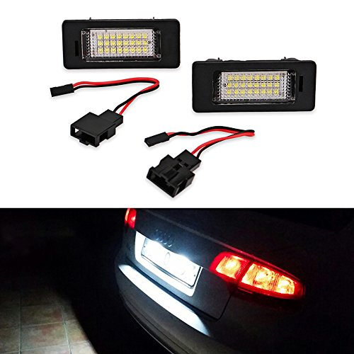 LITTOU 2 X 24 LED SMD Luci targa Canbus Error per A4 (B8) A4 (B8) A5 / S5 Q5 TT/TT RS