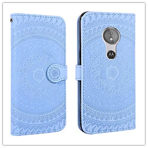 PROTECTIVECOVER+ / for MOTOROLA Moto G7 Patrón de impresión prensado Flip horizontal PU Funda de cuero con soporte y ranuras tarjetas y billetera && cordón , Fashion Phone Funda Para Protector