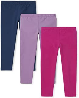 The Children's Place Girls' Solid Knit Leggings 3-Pack