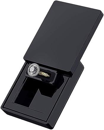 MONOLIX Slim Ring Box, Thin Unique Sliding Lid, for Surprise Engagement Proposal