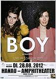 Boy - Mutual Friends, Hanau 2012 » Konzertplakat/Premium