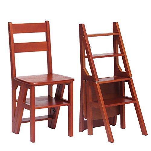 NYDZDM trappenhuis-kruk 4-dieren-trapladder klapkruk huishoudhoutkruk multifunctionele klapladder stoel keuken stap-kruk