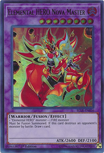 Yu-Gi-Oh! - Elemental Hero Nova Master - BLLR-EN056 - Ultra Rare - 1st Edition - Battles of Legend: Light's Revenge