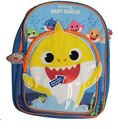 Plays a Tune Baby Shark - Zaino da scuola per bambini, colore: Blu