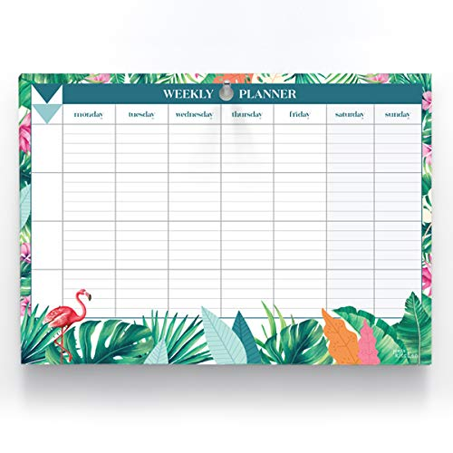 Joeji's Kitchen Planning settimanale con fogli strappabili   Blocco organizer A4 da 60 pagine per pianificare l'orario settimanale. Calendario da tavolo settimanale / weekly planner, carta 100 GSM