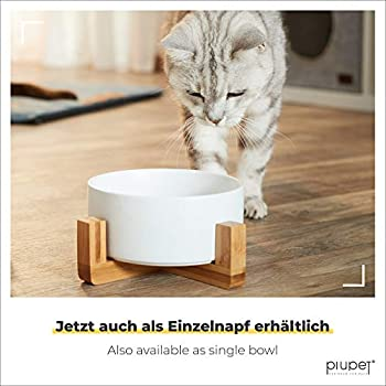 PiuPet® Bol pour Chats et Chiens - 850 ML - Bol pour Chat pour Chat - Bol pour Chien pour Chien - Bol pour Chien Big Dogs (Gris + Blanc)