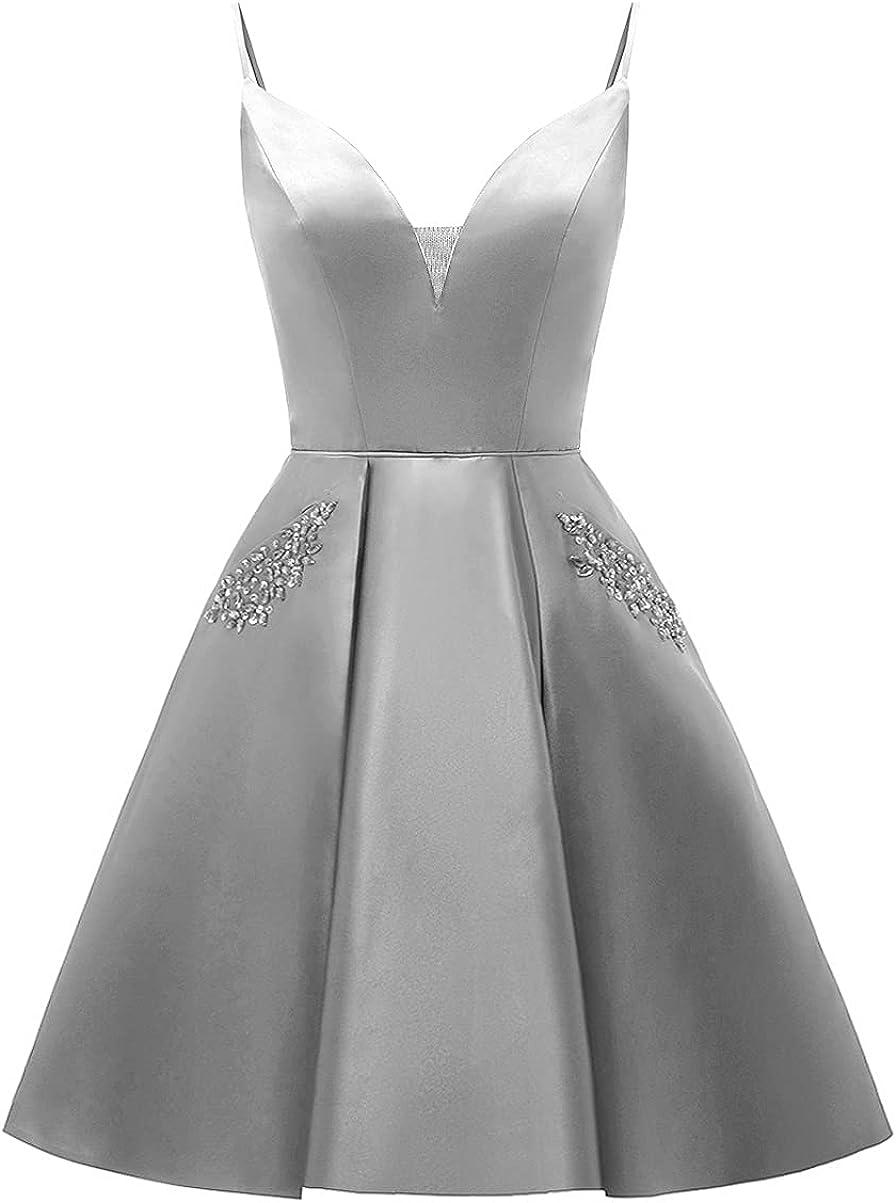 品質検査済 yinyyinhs Short Beaded Homecoming V-Neck Dress Cocktail Dresses ☆送料無料☆ 当日発送可能