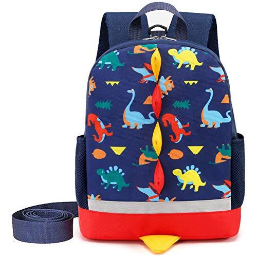 Cosyres Kids Dinosaur Backpack Boys Toddler Backpack Rucksack (Navy(Size:L))