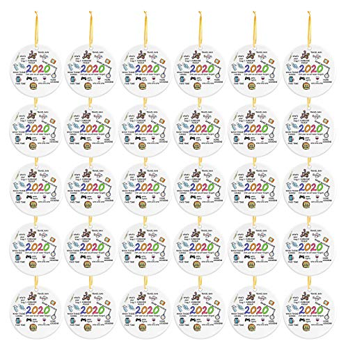Price comparison product image 30 PC 2020 Christmas Ornaments,  2020 Christmas Ornament Quarantine,  2020 Event Ornament