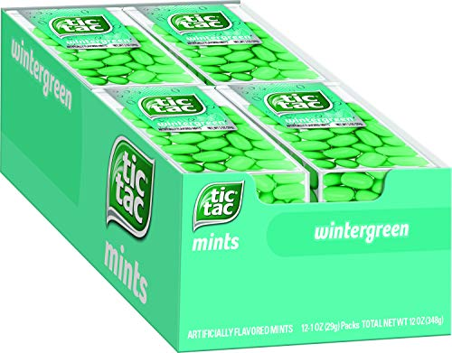 Tic Tac Fresh Breath Mints, Wintergreen, Bulk Hard Candy Mints, 1 oz Singles, 12 Count, Perfect Easter Basket Stuffers for Boys and Girls from Tic Tac