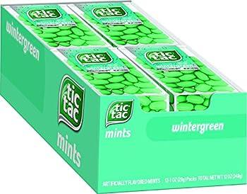Tic Tac Fresh Breath Mints Wintergreen Bulk Hard Candy Mints 1 oz Singles 12 Count Perfect Halloween Treats for Boys and Girls
