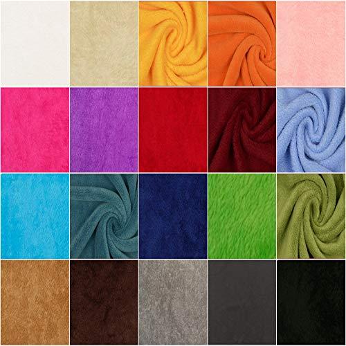 DIE NÄHZWERGE Superflausch Uni EINFABIG, in 20 Farben - Meterware ab 50cm | Wellness-Fleece Softplüsch Microfleece – kuschelig weich (grau)