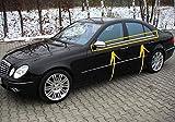 para Mercedes Clase E W211 Saloon 2003-2009 Cubierta de Marco de Ventana de Acero Inoxidable Cromado, 4 Unidades