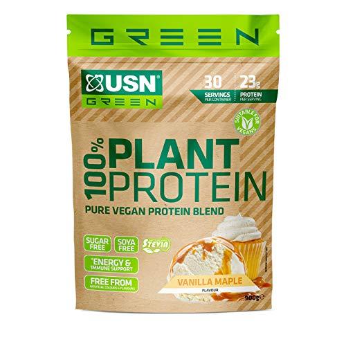 USN 100 Percent Pure Plant Protein Vanilla: 100% Vegan Whey Protein, Sugar Free Plant Protein Shake