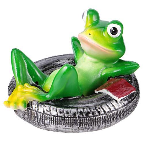 TOYANDONA Froschfigur Harz Frosch Statue Tischplatte Figur für Garten Pool Gelb