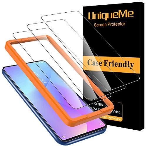 [3 Pack] UniqueMe Protector de Pantalla Compatible con Xiaomi Mi 9T / Xiaomi Mi 9T Pro Cristal Templado, [9H Dureza ] [Sin Burbujas] HD Vidrio Templado