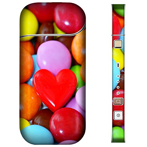 iQOS アイコス スキンシール 【 チョコ/お菓子/フルーツ チョコ-カラフルチョコ 柄 】表面・裏面・側面セット 2.4Plus(2017年発売) 対応