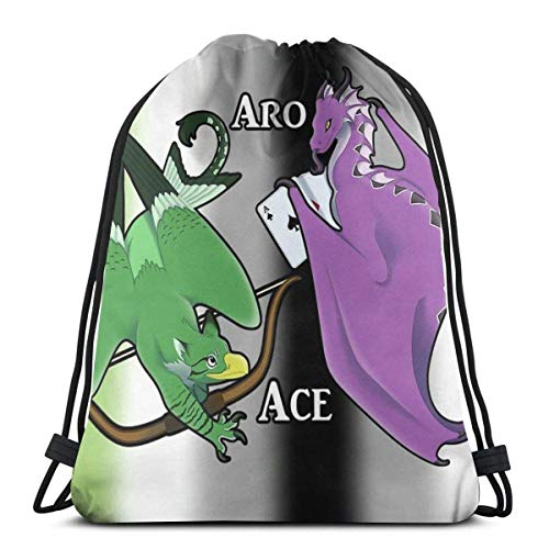 XCNGG Aroace Dragon Gryphon Waterproof Foldable Sport Sackpack Gym Bag Sack Drawstring Backpack