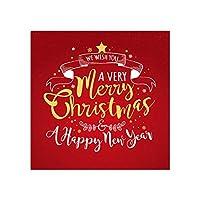 メリークリスマスポスター明けましておめでとうキャンバス絵画壁アートキャンバスプリント壁赤い絵リビングルームホームクリスマス50x50cmフレームなし