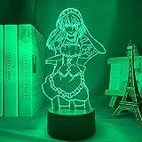 Lámpara Manga 3D Maid Sama para decoración de habitación de niños luz nocturna niños bithdag make Maid Sama Anime luz LED dormitorio