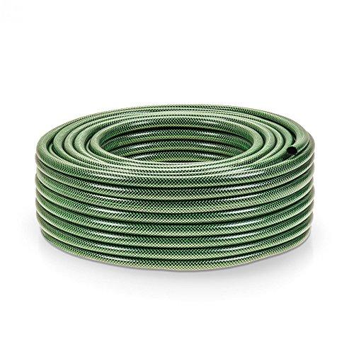 50 Meter Kreuzgewebe Gartenschlauch - 1/2 Zoll - dunkelgrün