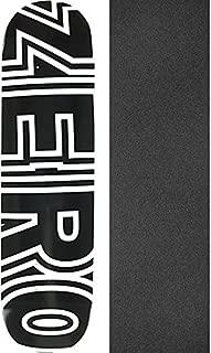 Zero Skateboards Bold Black/White Skateboard Deck - 7.75
