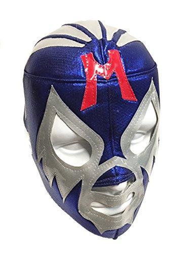 Leos Imports MIL MASCARAS Adult Lucha Libre Wrestling Mask (pro-fit) Costume Wear - Blue/Grey